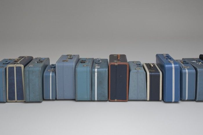 Zoe Leonard, 1961, 2002 – ongoing, Blue suitcases