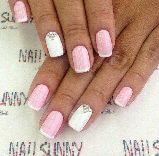 25+ Best Ideas About Pink White Nails On Pinterest