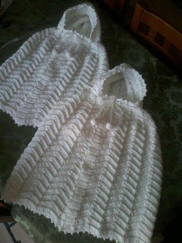babies hood with the zeg zag stitch