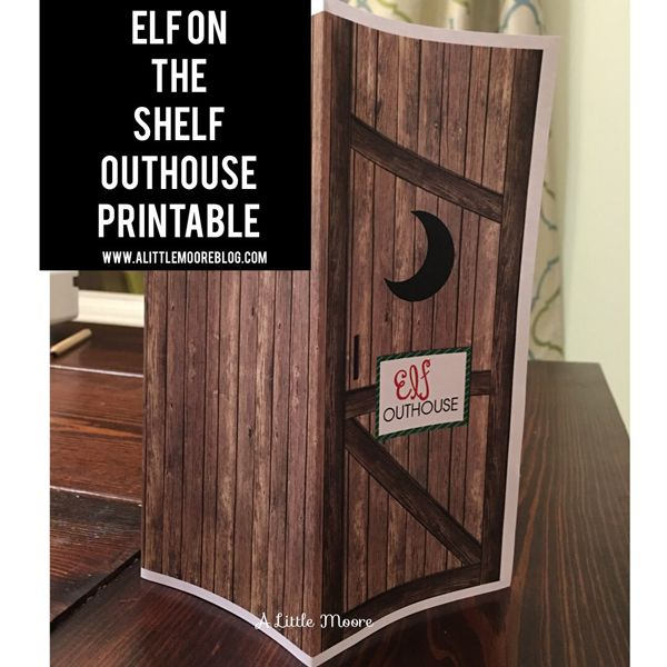 FREE Elf on the Shelf Outhouse Printable! See 15 more FREE Elf on the Shelf Printables on www.prettymyparty.com.