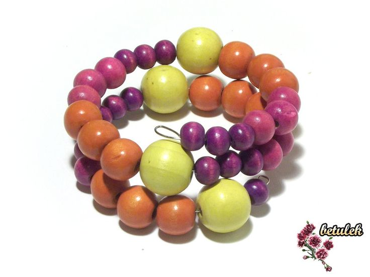 Bracelets – Bracelet - wooden beads – a unique product by betulek on DaWanda