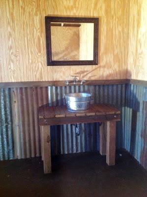 Blessed Oak Farm Groom's Room #galvanized sink