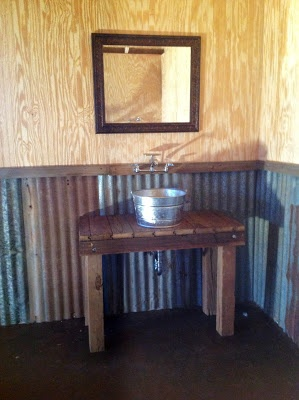 Blessed Oak Farm Groom's Room #galvanized sink
