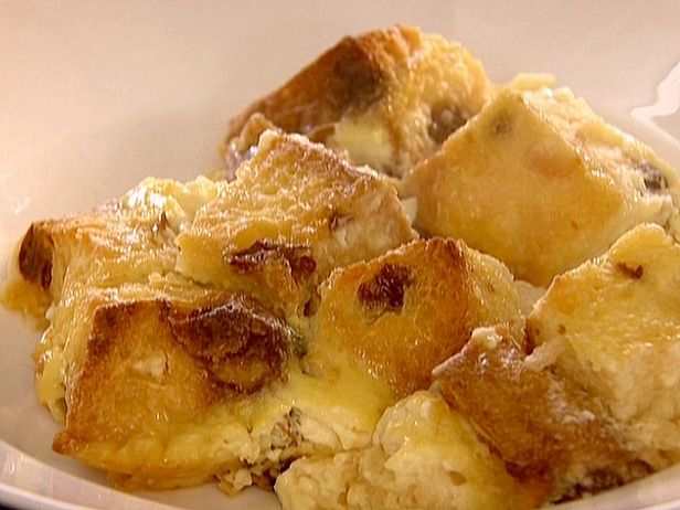Panettone Bread Pudding recipe -- easily lightened using some egg beaters, etc. This is FANTASTIC.
