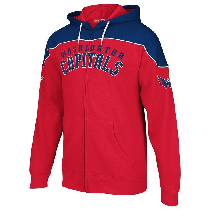 Washington Capitals NHL Hockey Score Red Full Zip Hooded Sweatshirt