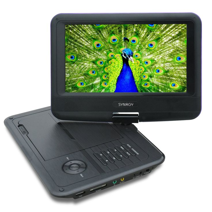 SYNAGY A19 9inch Portable DVD Player CD Player with Swivel Screen and Car Charger