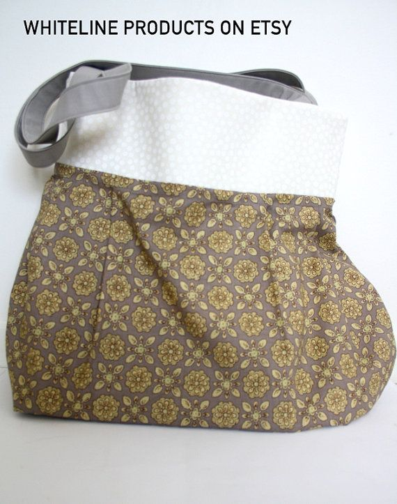 Reversible Shoulder Bag   Cotton Fabric with by WhiteLineProducts