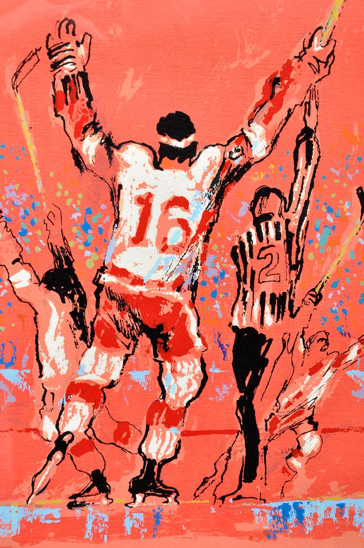 """Wingman: Bidding on LeRoy Neiman's vivid interpretation of a Detroit goal started at US$1,000 at the latest sale of hockey art and artifact by Montreal's Classic Auctions, but this edition of his 1973 serigraph """"Red Goal"""" didn't find a buyer by the time the bazaar closed last week. That's Red Wings centre Henry Boucha unmistakably, number 16, with his trademark headband, but his happy teammates are harder to identify. Tim Ecclestone? Nick Libett? The referee has a bit of a Ron Wicks air to…"""