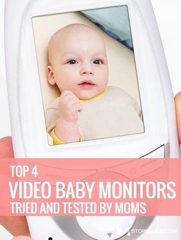 Baby on video monitor screen