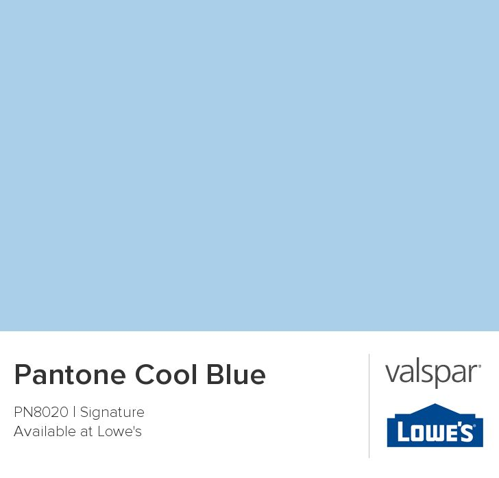 Pantone Cool Blue From Valspar Baby Info Pinterest