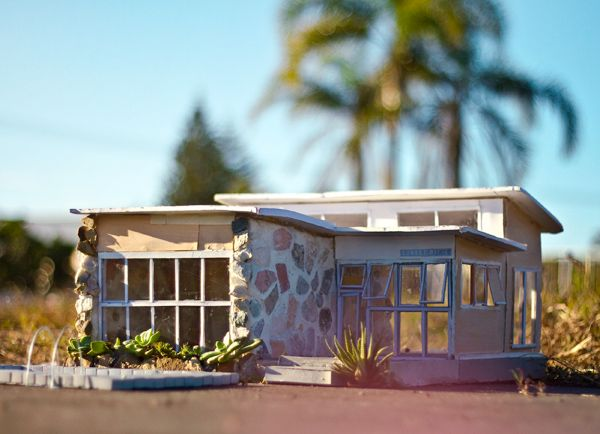 Anna Carey sculpture and photography in one.. She creates these intricate paper models of long forgotten, slightly crumbling Gold Coast-style buildings, created from memory.  She then photographs her models, capturing a sense of uniquely Australian architectural nostalgia.. via The Design Files