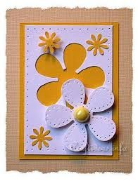 Resultado de imagen para tarjetas hechas a mano con flores daysi