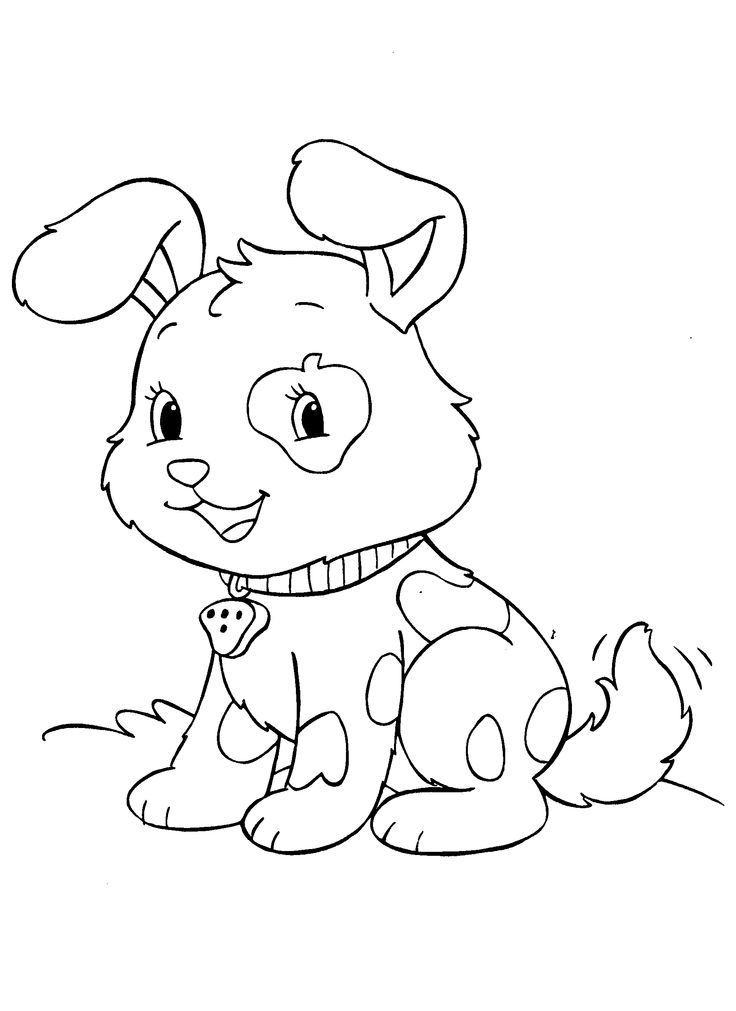 cute baby puppies coloring page