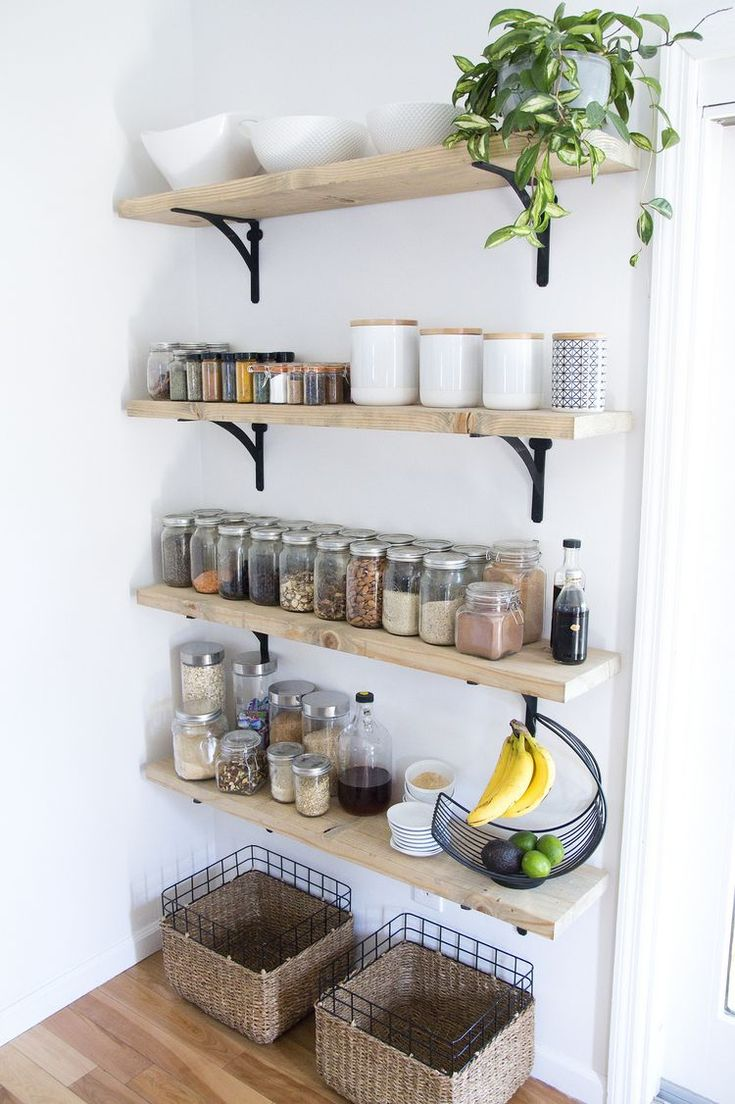 8 tips For Creating Successful Open Shelving (and a pantry)