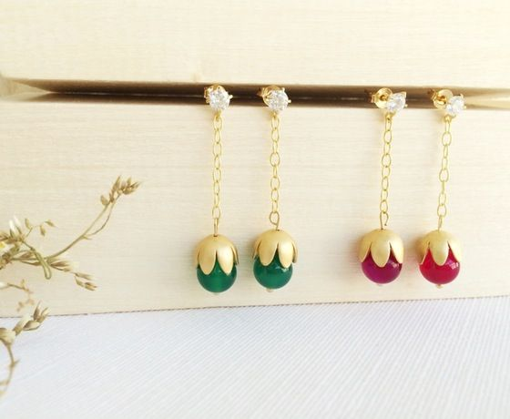 Irlanda #earrings #handmade #cuarz #handmade #goldfilled #jewelry