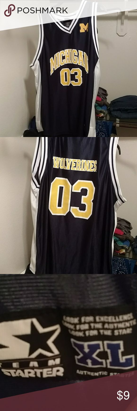 Michigan Wolverines Basketball Jersey XL Number # 03. Great condition, i have hardly ever wore it NCAA Shirts Tank Tops