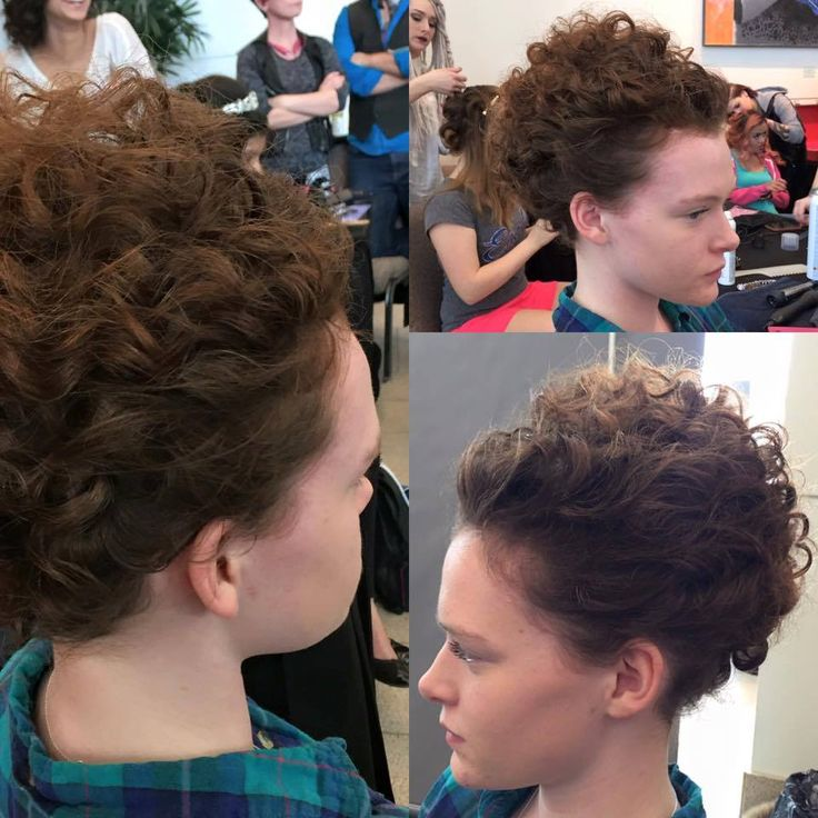 Curly updo by Manda Kay for the Natalie M Foundation Fashion Show.