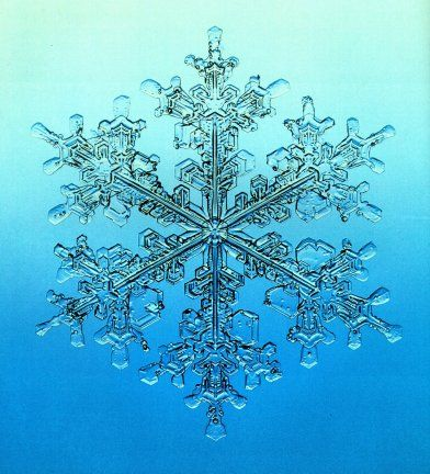 Blue snowflake picture.