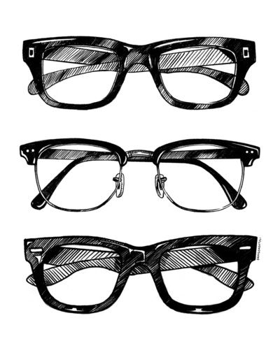 glasses illustration by Danilo Agutoli