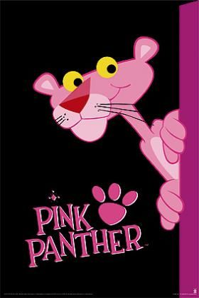 """La Pantera Rosa - Este rosado personaje nació en 1964, creada por el animador Friz Freleng, (ya conocido por sus trabajos en la Disney primero, y posteriormente en Warner). El director de cine Blake Edwards le pidió que creara un corto animado de tres minutos cómo introducción para su comedia """"la Pantera Rosa""""(donde se robaba un diamante con ese nombre), y obtuvo tanto éxito, que desde entonces, todos los films de la saga, van invariablemente unidos a la imagen del simpático felino."""