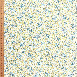 Tissu en cretonne 100% coton à motif floral