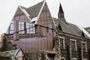 Mike Hewson, a New Zealand based artist, created a fantastic public art installation on the sides of buildings in the town of Christchurch that had been destroyed in an earthquake in 2011. What makes the project so special is Hewson's use of 3D style and photoreal works that make the buildings appear as if they are alive and operating as they were before.