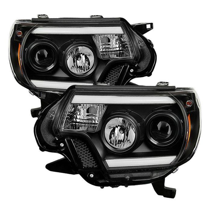 ( Spyder ) Toyota Tacoma 12-15 Projector Headlights - Light Bar DRL - Black from COS Kustoms