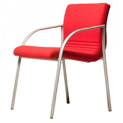 Move Deluxe office chairs.  Clean contemporary lines define the Move Deluxe. It is compact and lightweight made from steel tubing and a one piece timber ply. Its bright silver frame is always a stand out or can be changed to reflect the mood of any room.