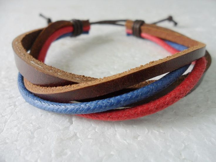 Adjustable leather bracelet women bracelet men bracelet made of hemp ropes leather woven cuff bracelet