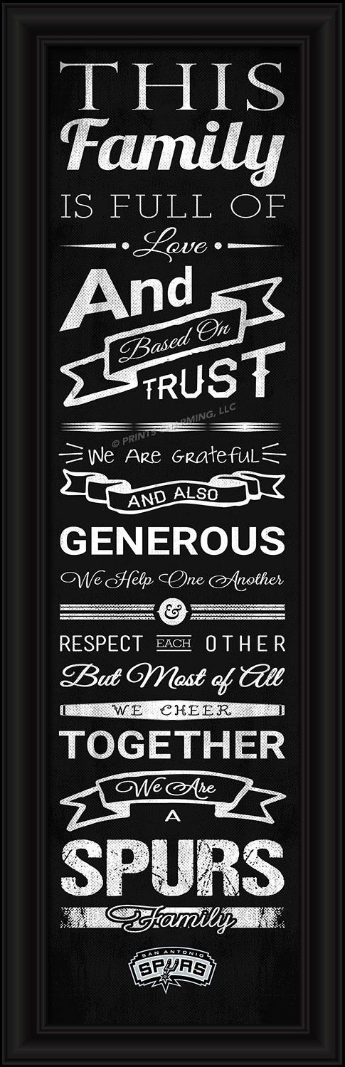 4865504997/848655049971/_B_ This full-color print features an inspiring message and lets everyone know who your family cheers for. The finished piece measures 24 x 8 inches…