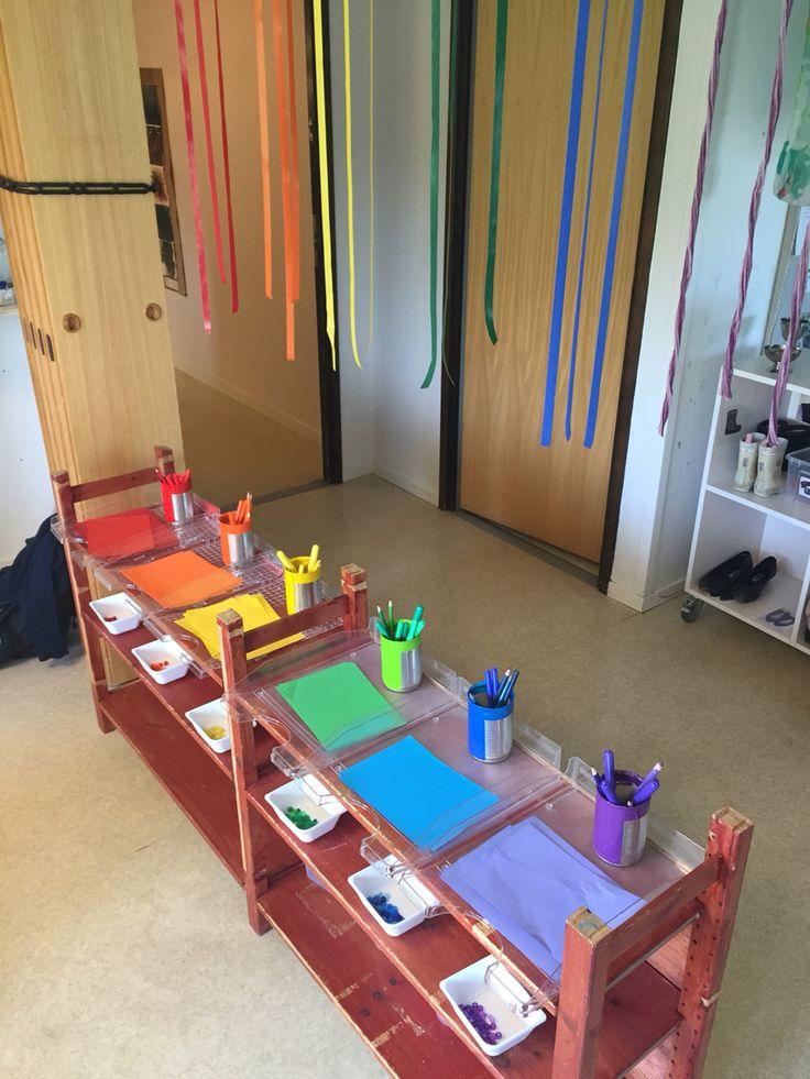 Att inspireras av färg och skapande på förskolan