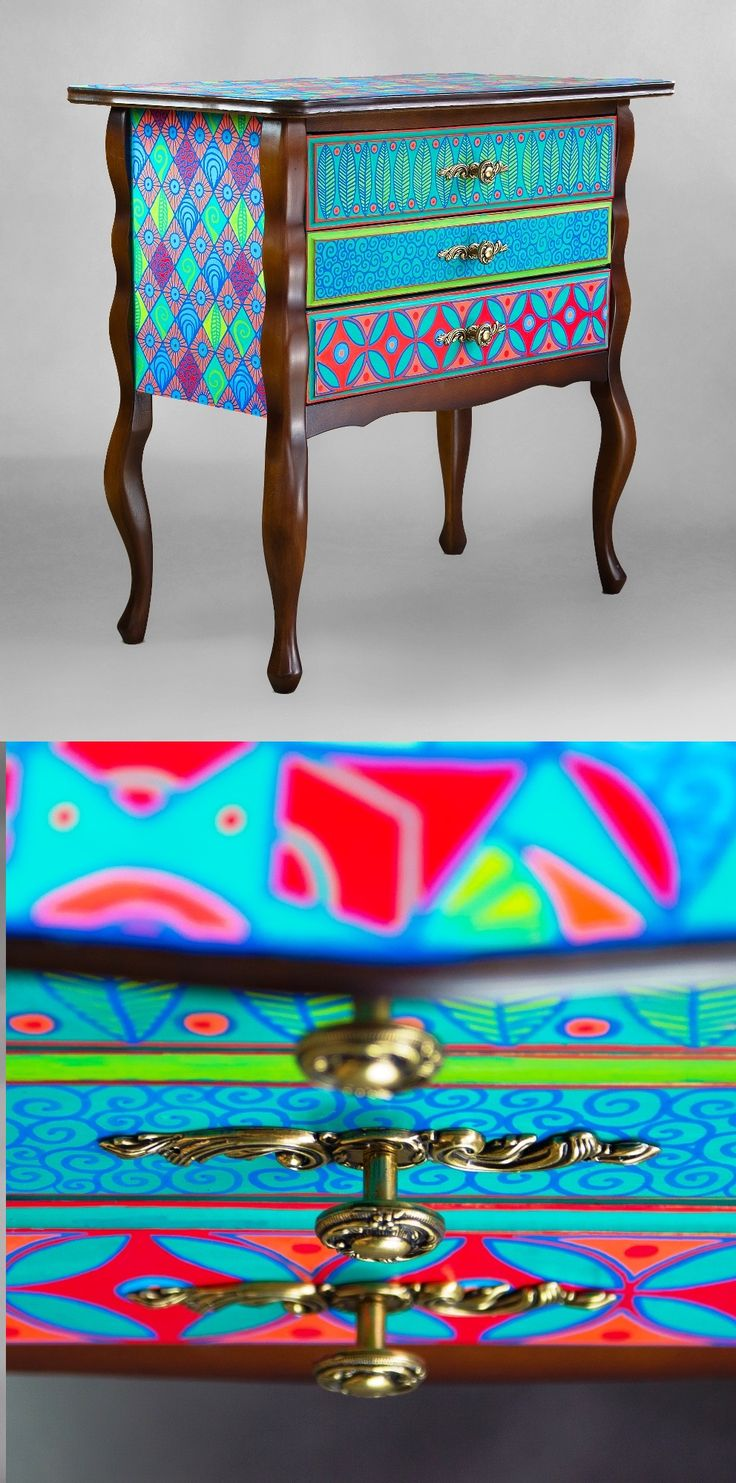 Hand-painted Art PoPo chest of drawers The Kaleidoscope