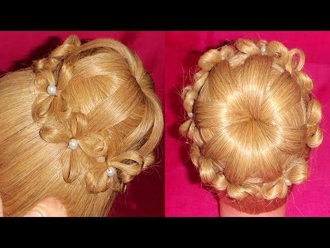 PEINADO PARA NOVIA - Cebolla / Chongo de Flores   Bun Flowers Hairstyle ...