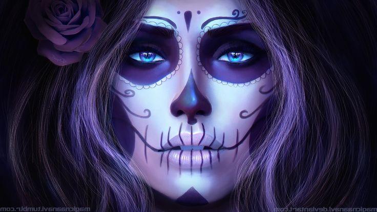 CGI, Render, Dia De Los Muertos, Magicna Anavi Wallpaper