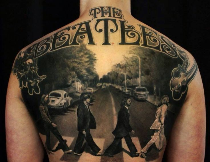 #Beatles Back Piece #Tattoo by Ellen Westholm -- Ellen is absolutely the best tattoo artist I have seen. I would love to have a piece done by her. And she's only been tattooing for a few years. #Elle