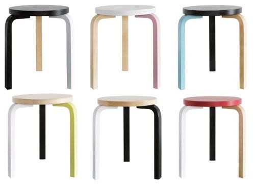 Artek is partnering with architects and designers on a series of special edition stools throughout the year, like these by Mike Meiré.