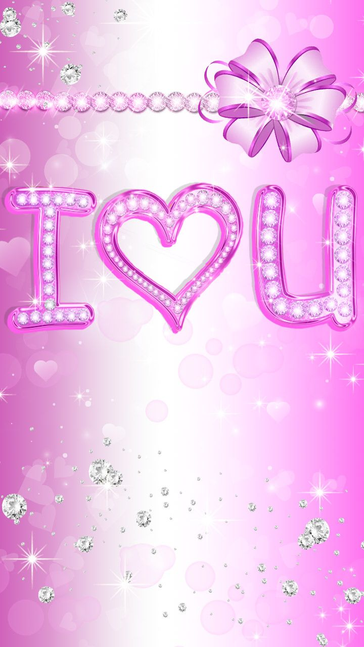 I Love You Pink Diamond Style For Your Home Screen Pink Cute Ribbon Art Love Iphone Wallpaper Photos Iphone Homescreen Wallpaper Home Screen Wallpaper Hd