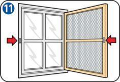 Fliegengitter an Türen und Fenstern anbringen - Schließmechanismus