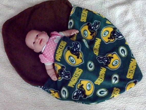 Green Bay Packers Baby Snuggle Sack boys girls babys by lindasnd, $35.00
