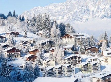 (のザンクトガレン、スイス) スイス アルプスの冬