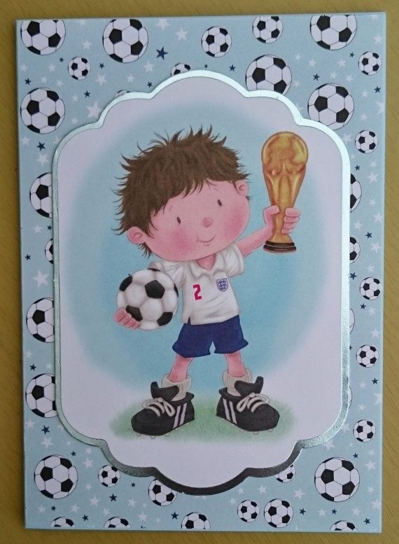 Handmade C7 Football Greeting Card Any Occasion by BavsCrafts