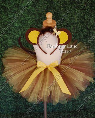 Custom Monkey Costume for Toddler Girls Halloween by DanburyLane, $47.95