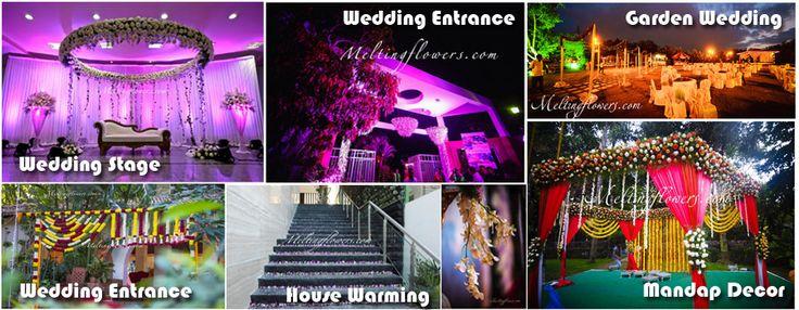 Wedding Stage Decoration, Flowers Decoration, Mandap, House Warming, Entrance Decorations, Garden Wedding