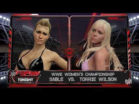 WWE 2K16: Sable vs. Torrie Wilson for Women's Championship - YouTube