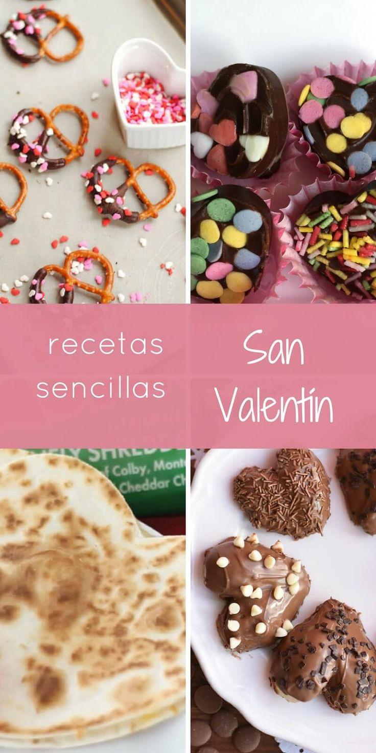 recetas sencillas para celebrar san valentín