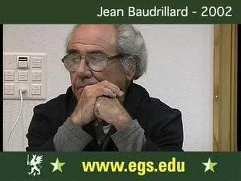 Jean Baudrillard. Cultural Identity and Politics. 2002 1/8