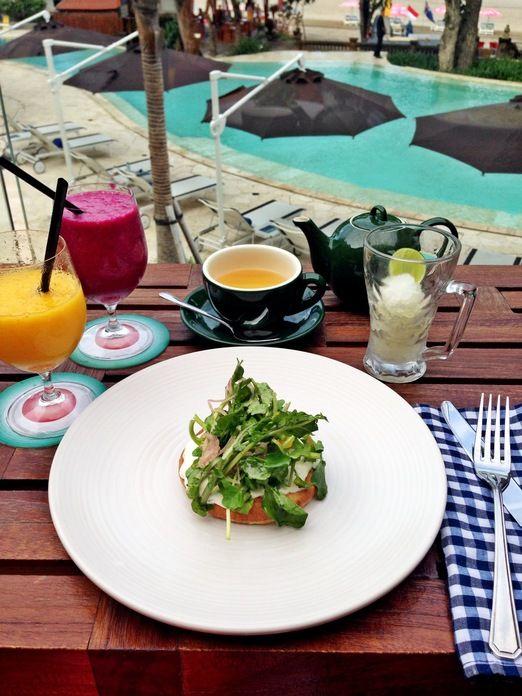 Russian breakfast: Seminyak Italian Restaurant serves breakfast dishes a la carte  featuring classic Italian favorites t...