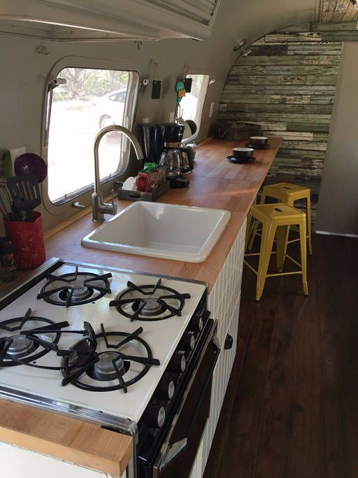Become a happy camper with a 1976 Airstream Land Yacht: The kitchen can't be beat
