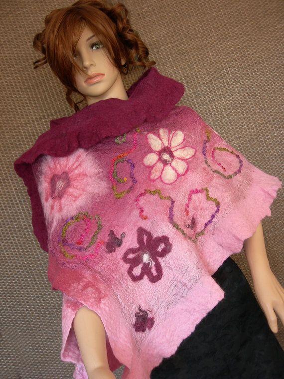 Nuno felted scarf by Annavilma on Etsy