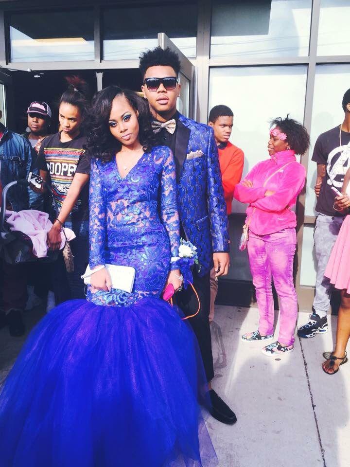 Royal Blue Lace Prom Dresses